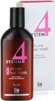 "System 4 терапевтическая пилинговая маска ""О"", 215мл, Oil Cure Hair Mask ""O"", Sim Sensitive"